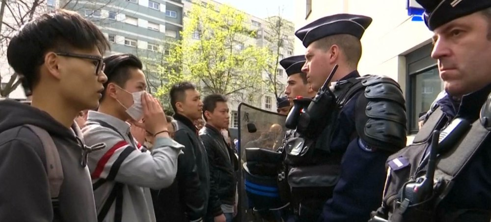 Protests hit the streets of Paris following police shooting of Chinese man