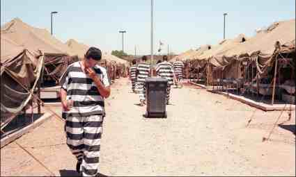 prisoners walk in arpaio tent city